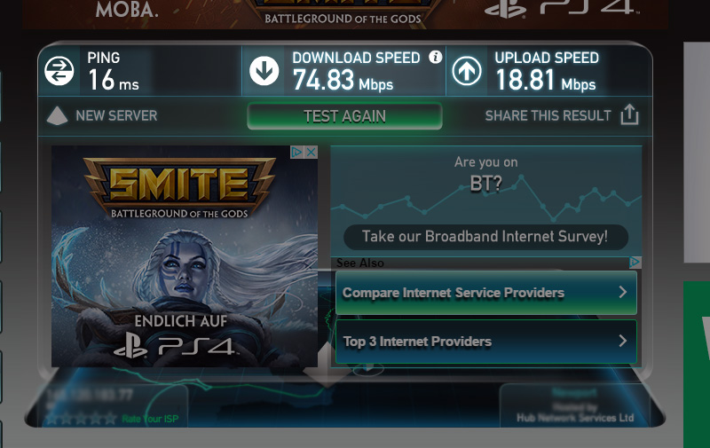 Test your Internet Connection Today.