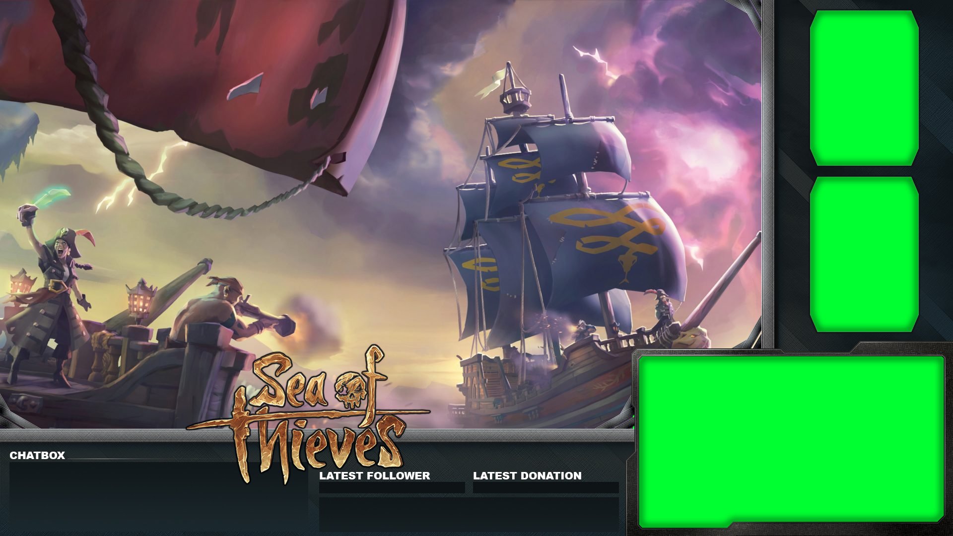 Free Sea of Thieves Overlay For Streaming on Youtube, Twitch