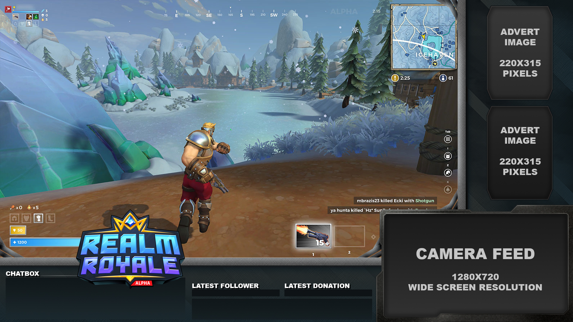 free realm royale overlay for twitch youtube chaos hour